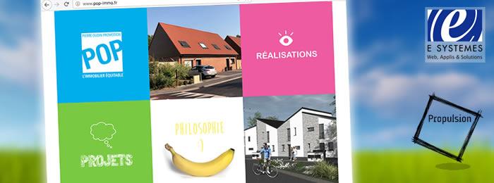 Développement site web promotion immobilière